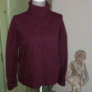 LL Bean plum color wool blend sweater